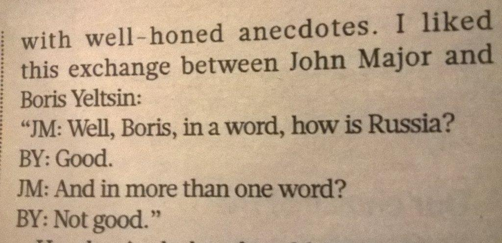 John Major and Boris Yeltsin