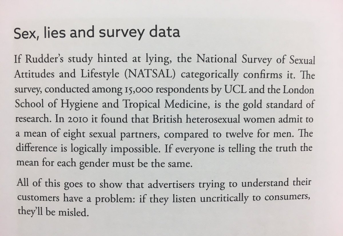 Sex, lies and survey data